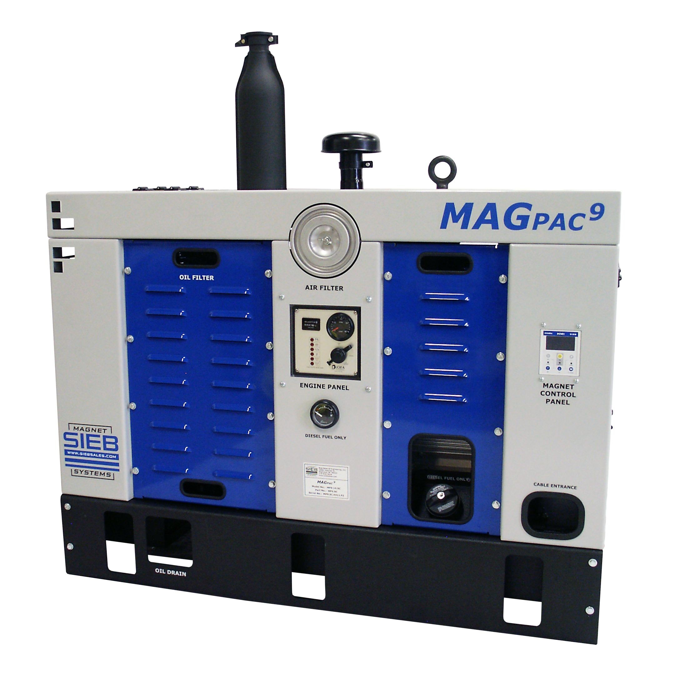 MAGPAC-Self-contained Diesel Driven 9 or 15 kW Magnet System